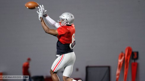 Observations on Ohio State's offense at practice on the first day back from spring break.