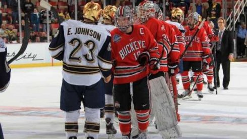 Not the last conference game between Ohio State and Notre Dame hockey