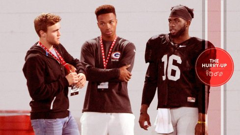Tate Martell, Dorian Thompson-Robinson at Ohio State with JT Barrett.