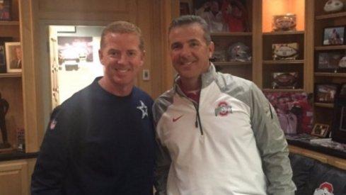 Urban Meyer and Dallas Cowboys coach Jason Garrett