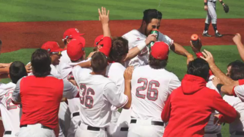Ohio State celebrates a walk-off win.