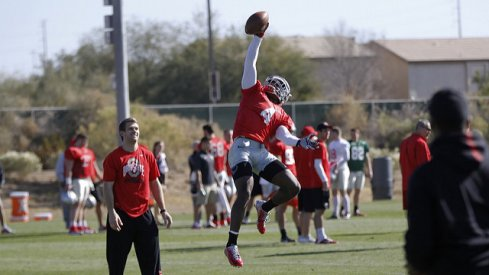 Curtis Samuel gets up for the March 31st 2016 Skull Session.