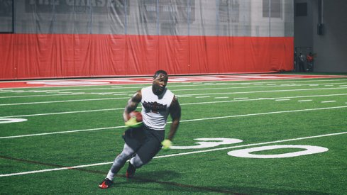 Curtis Grant at Ohio State's Pro Day