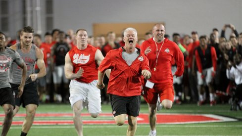 Kerry Coombs is running for joy towards the April 4th, 2016 Skull Session