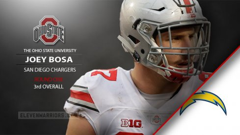 The San Diego drafted Joey Bosa third overall in the 2016 NFL Draft Thursday.