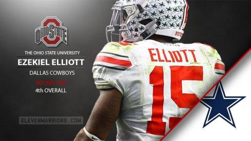 Ezekiel Elliott drafted by Dallas.