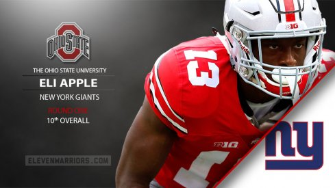 Eli Apple drafted by the Giants.