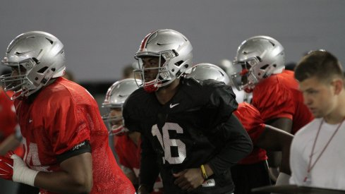 J.T. Barrett is focused on his own improvement even though so many receivers are hurt this spring.
