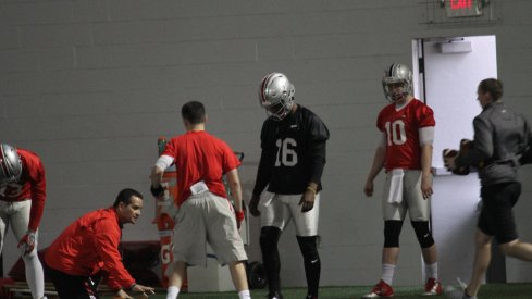 Updating the Ohio State backup quarterback battle between Joe Burrow and Stephen Collier.