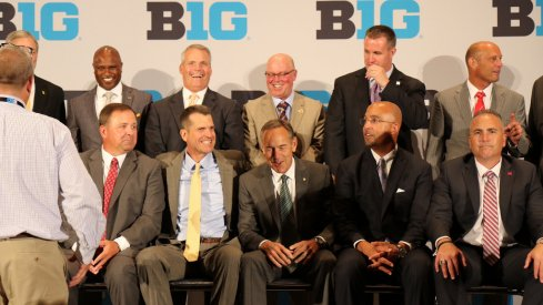 Big Ten coaches at the conference's media day.