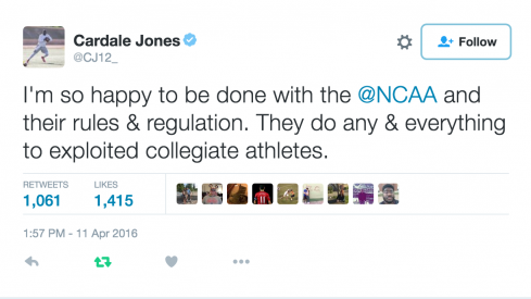 Cardale Jones ripped the NCAA Monday.