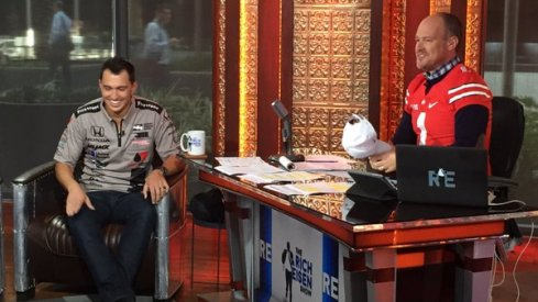 Graham Rahal cashed in on a bet with Michigan grad Rich Eisen Monday.