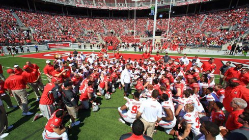 Urban Meyer and Ohio State at the 2015 spring game.
