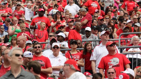 Ohio Stadium sold out for spring game.
