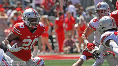 Mike Weber had seven carries for 30 yards.