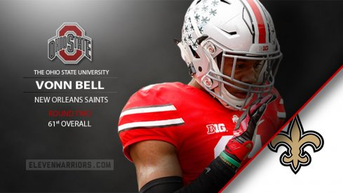 Vonn Bell drafted by the New Orleans Saints.