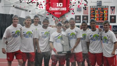 Ohio State men's tennis capture 11th-straight B1G title.