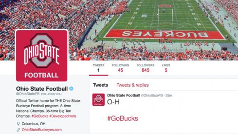 Ohio State Football finally has an official Twitter account.