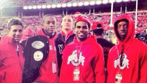 Mark Pantoni, Darron Lee, Joey Bosa, Ezekiel Elliott and Eli Apple in 201.