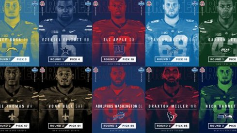 The NFL drafted 10 Buckeyes for the April 30th 2016 Skull Session.