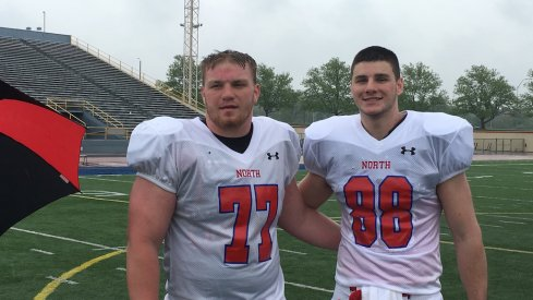 Gavin Cupp, Luke Farrell at the North-South game.