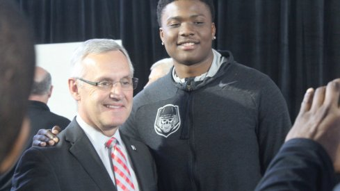 True freshman Dwayne Haskins is already on Urban Meyer's mind at quarterback.