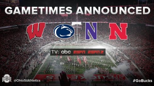 Ohio State to be part of four primetime Big Ten games in 2016.
