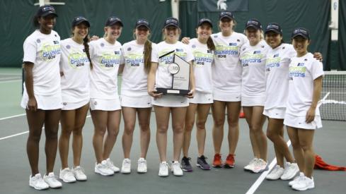 The women's tennis team earned its first ever Big Ten Tournament title.