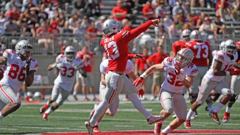 Ohio State quarterback Stephen Collier tore the ACL in his left knee.
