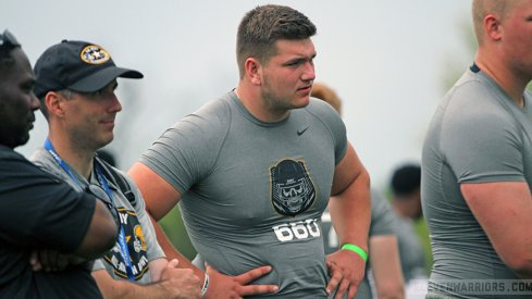 Josh Myers at The Opening regional camp in Columbus.