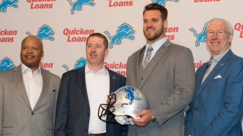 Taylor Decker is guaranteed nearly $11 million in his first NFL contract with the Detroit Lions.