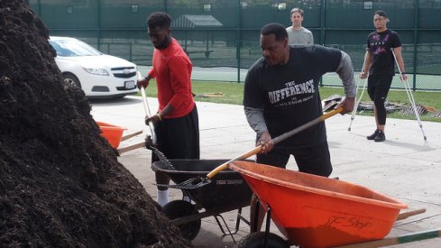 Larry Johnson and J.T. Barrett brought their shovels for the May 19th 2016 Skull Session