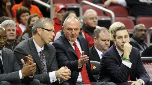 Ohio State basketball's coaching staff.