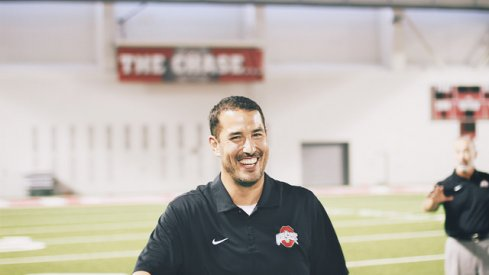 Luke Fickell is all smiles for the May 21st 2016 Skull Session
