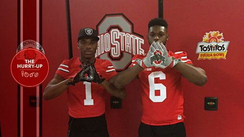 Jeffrey Okudah and Baron Browning during their Ohio State visit.