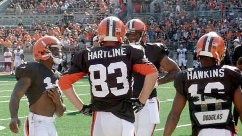 Brian Hartline released by the Cleveland Browns.