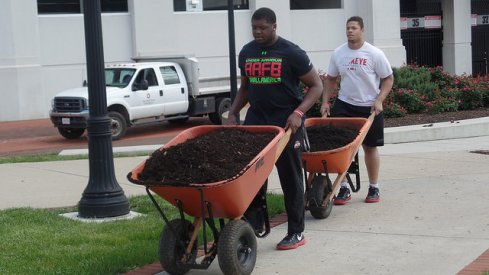 Jamarco Jones and Demetrius Knox brought the mulch for the June 4th 2016 Skull Session
