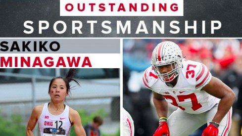 Sakiko Minagawa and Joshua Perry awarded big ten outstanding sportsmansip award