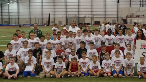 Urban Meyer and Dean Hood hosted their annual youth camp Wednesday in Geneva, Ohio.