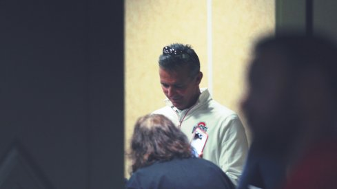 Urban Meyer discussed his summer Wednesday after his annual football camp in Geneva, Ohio.