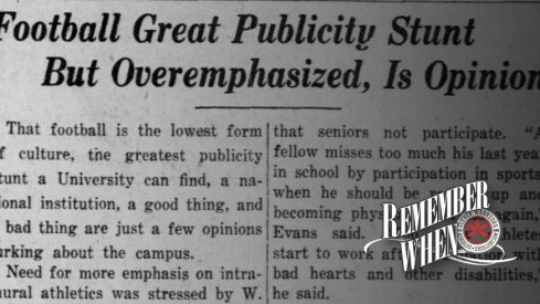 Remember When: People Thought Ohio State Placed Too Much Emphasis on Football... In 1930?