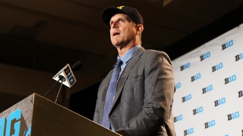 Michigan coach Jim Harbaugh doesn't feel like he needs to apologize for anything.