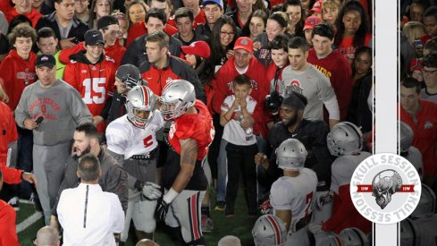 J.T. Barrett and Raekwon McMillan join the scrum for the August 3rd 2016 Skull Session