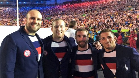 Kyle Snyder in Rio for the opening ceremony of the Olympics