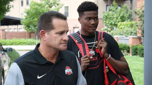 Tim Beck, left, and Dwayne Haskins