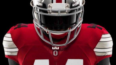Ohio State jersey LeBro's logo