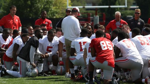 Urban Meyer and Ohio State continued practice Sunday afternoon.