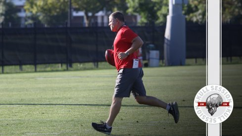 Greg Schiano runs to the July 11th 2016 Skull Session