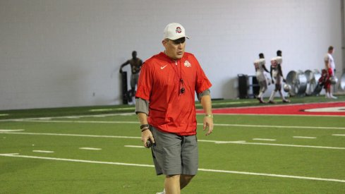 Ohio State offensive coordinator Ed Warinner will call plays from the press box this season.