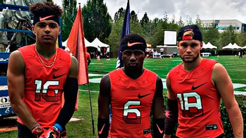 From left to right, Trevon Grimes, Tyjon Lindsey and Tate Martell